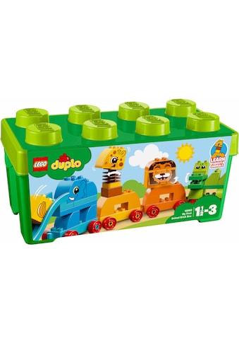 """LEGO® Konstruktionsspielsteine """"Meine erste Steinebox mit Ziehtieren (10863), LEGO® DUPLO®"""", Kunststoff, (34 - tlg.) kaufen"""