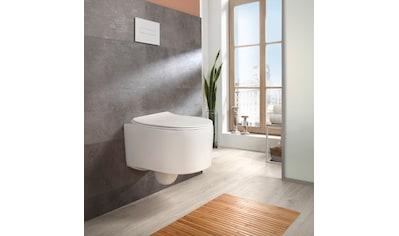 welltime Tiefspül-WC »Trento«, Toilette spülrandlos, inkl. WC-Sitz mit Absenkautomatik / Softclose, weiss kaufen