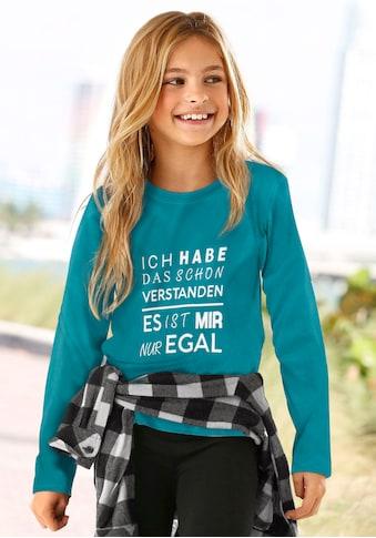 KIDSWORLD Langarmshirt »Ich hab das schon verstanden  -  es ist mir nur egal« kaufen
