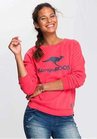 KangaROOS Sweater, mit grossem Label-Print vorne kaufen