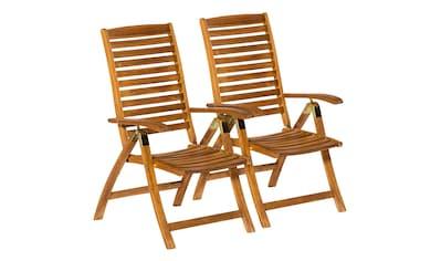 MERXX Gartenstuhl »Paraiba«, (2er Set), Akazienholz, verstellbar kaufen