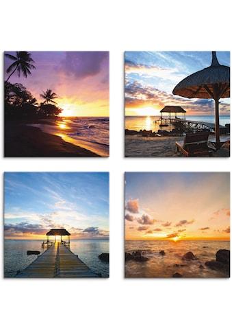 Artland Leinwandbild »Sonnenuntergang am Strand« kaufen