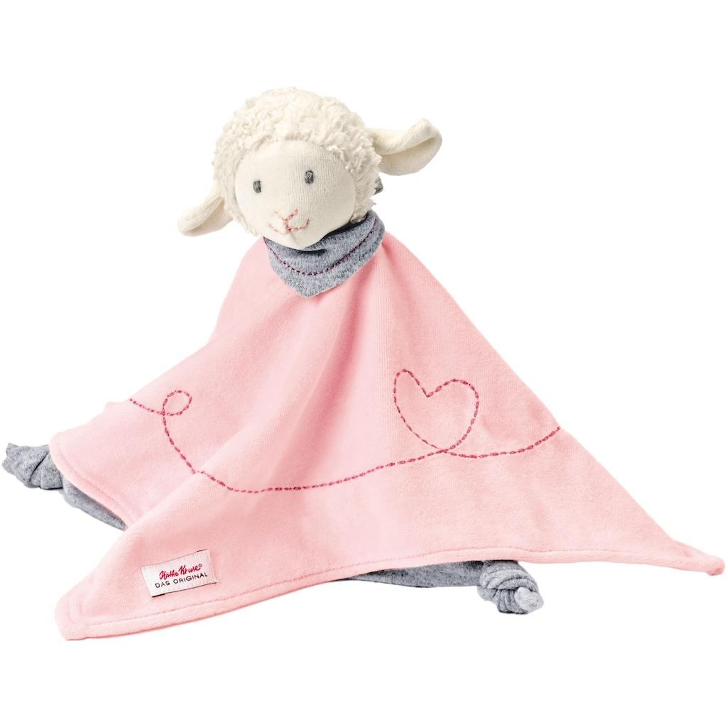 Käthe Kruse Schmusetuch »Lamm Mojo Schmusetuch rosa«, mit Herzstickerei