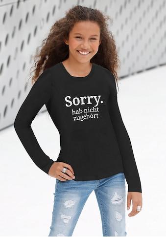 KIDSWORLD Langarmshirt »Sorry. hab nicht zugehört« kaufen