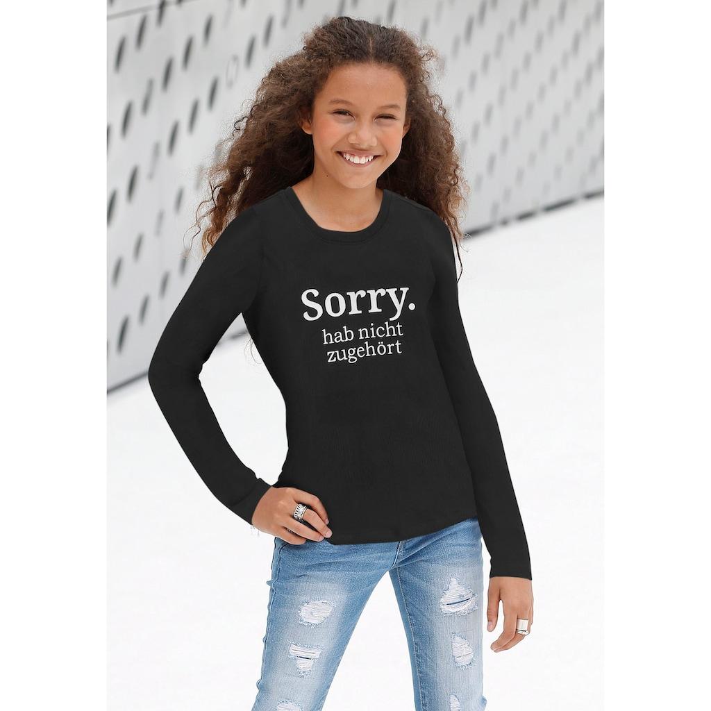 KIDSWORLD Langarmshirt »Sorry. hab nicht zugehört«