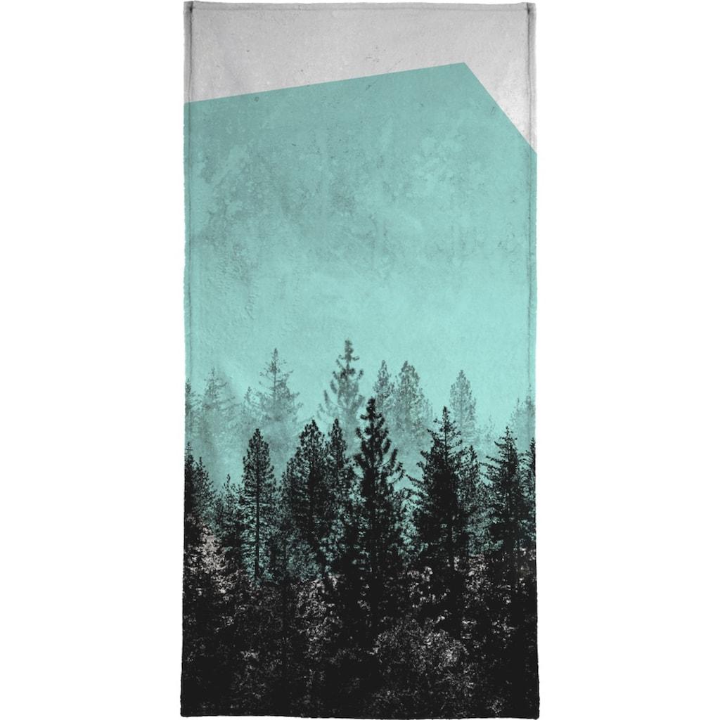 Juniqe Handtuch »Wood 3«, (1 St.), Weiche Frottee-Veloursqualität