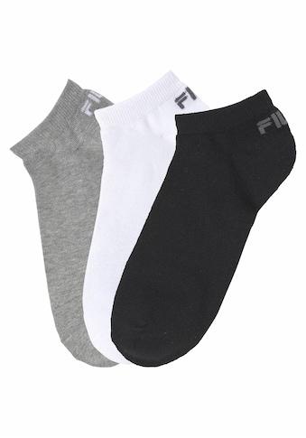Fila Sneakersocken, (3 Paar), mit eingestricktem Logo an der Ferse kaufen