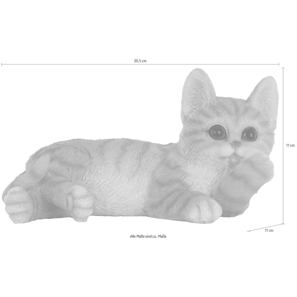 Myflair Möbel & Accessoires Dekofigur »Katze«, gelb/weiss getigert