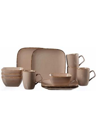 Ritzenhoff & Breker Frühstücks-Geschirrset »CASA«, (Set, 12 tlg.), Vintage/Used-Look kaufen