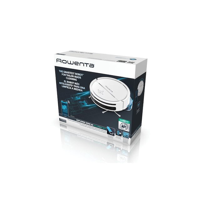 Saugroboter, Rowenta, »Explorer 80 Allergy Connect Weiss«