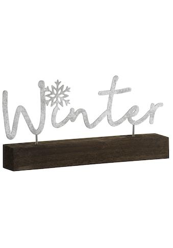 Dekoobjekt »Schriftzug Winter«, aus Holz und Metall, Länge ca. 29 cm kaufen