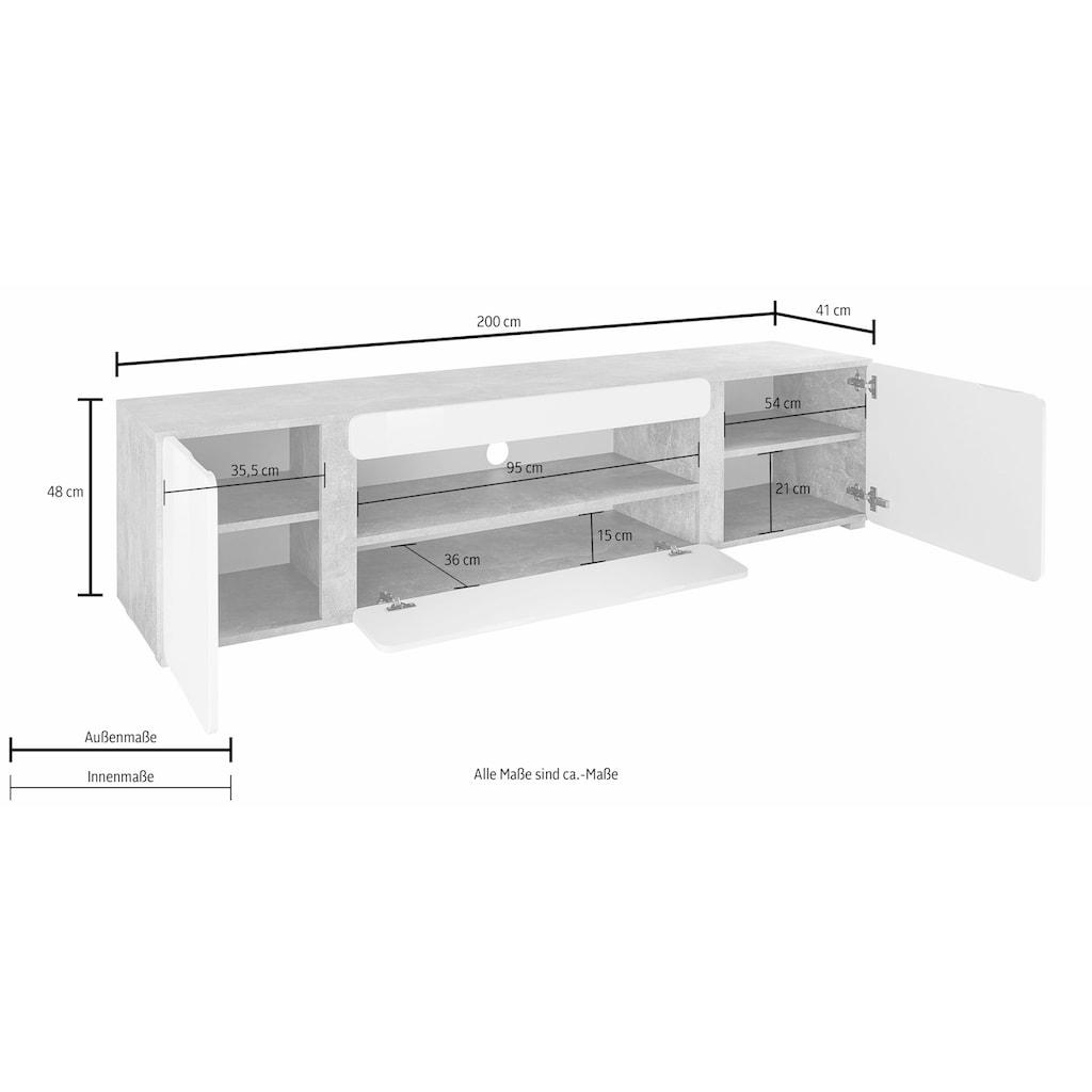Homexperts Lowboard »Rimini«, Breite 200 cm