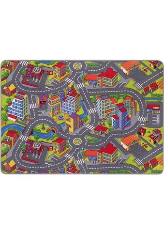 Andiamo Kinderteppich »Strasse«, rechteckig, 5 mm Höhe, Strassen-Spielteppich, Strassenbreite: 8,5 cm, Kundenliebling mit 4,5 Sterne-Bewertung kaufen