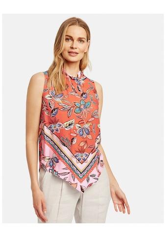 Taifun Bluse ohne Arm »Ärmellose Bluse mit Scarf - Print« kaufen