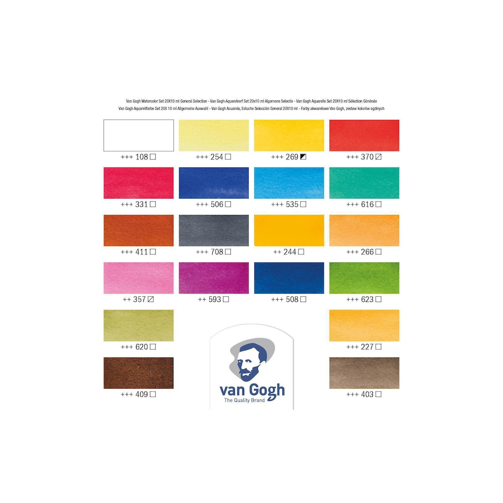 Aquarellfarbe »Malkasten 20er-Set, Mehrfarbig«