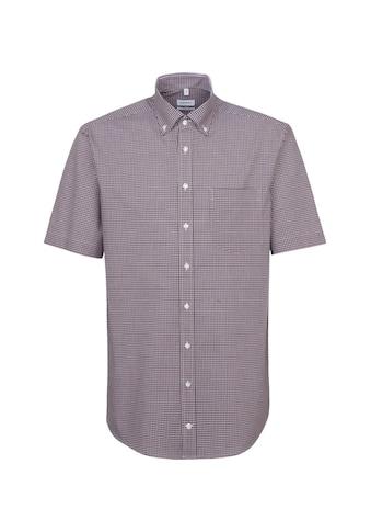 seidensticker Businesshemd »Comfort«, Comfort Kurzarm Button-Down-Kragen Karo kaufen