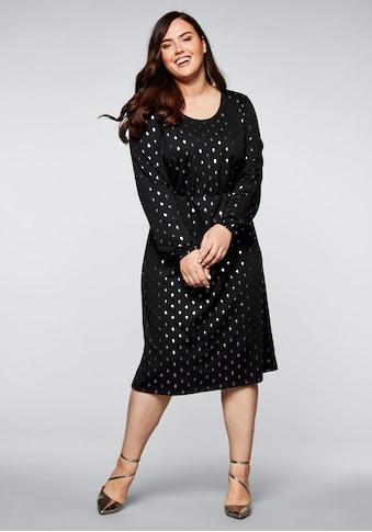 Sheego Partykleid, mit kontrastfarbenem Folienprint kaufen