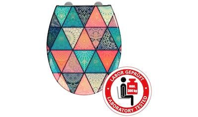 WENKO WC-Sitz »Geometry«, Duroplast, mit Absenkautomatik kaufen