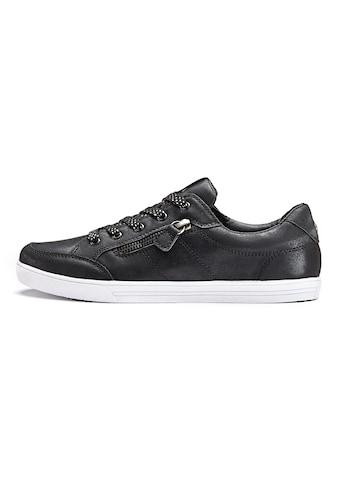 LASCANA Sneaker, in Metallic-Optik und seitlichem Zierreissverschluss kaufen