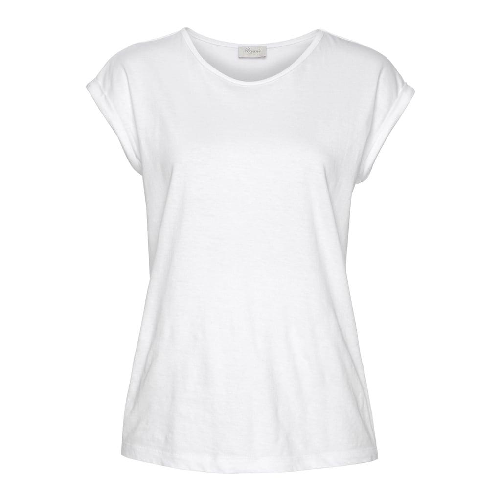 Boysen's T-Shirt, mit überschnittenen Schultern & kleinem Ärmelaufschlag