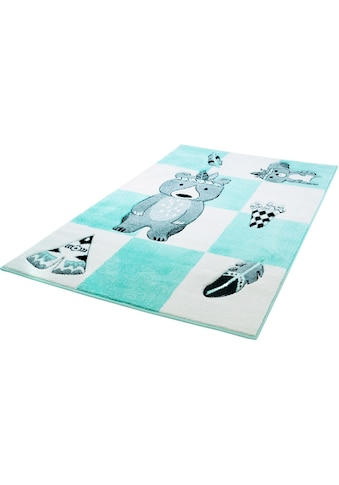 Carpet City Kinderteppich »Bueno Kids 1516«, rechteckig, 13 mm Höhe, Teddy Indianer, Kurzflor kaufen