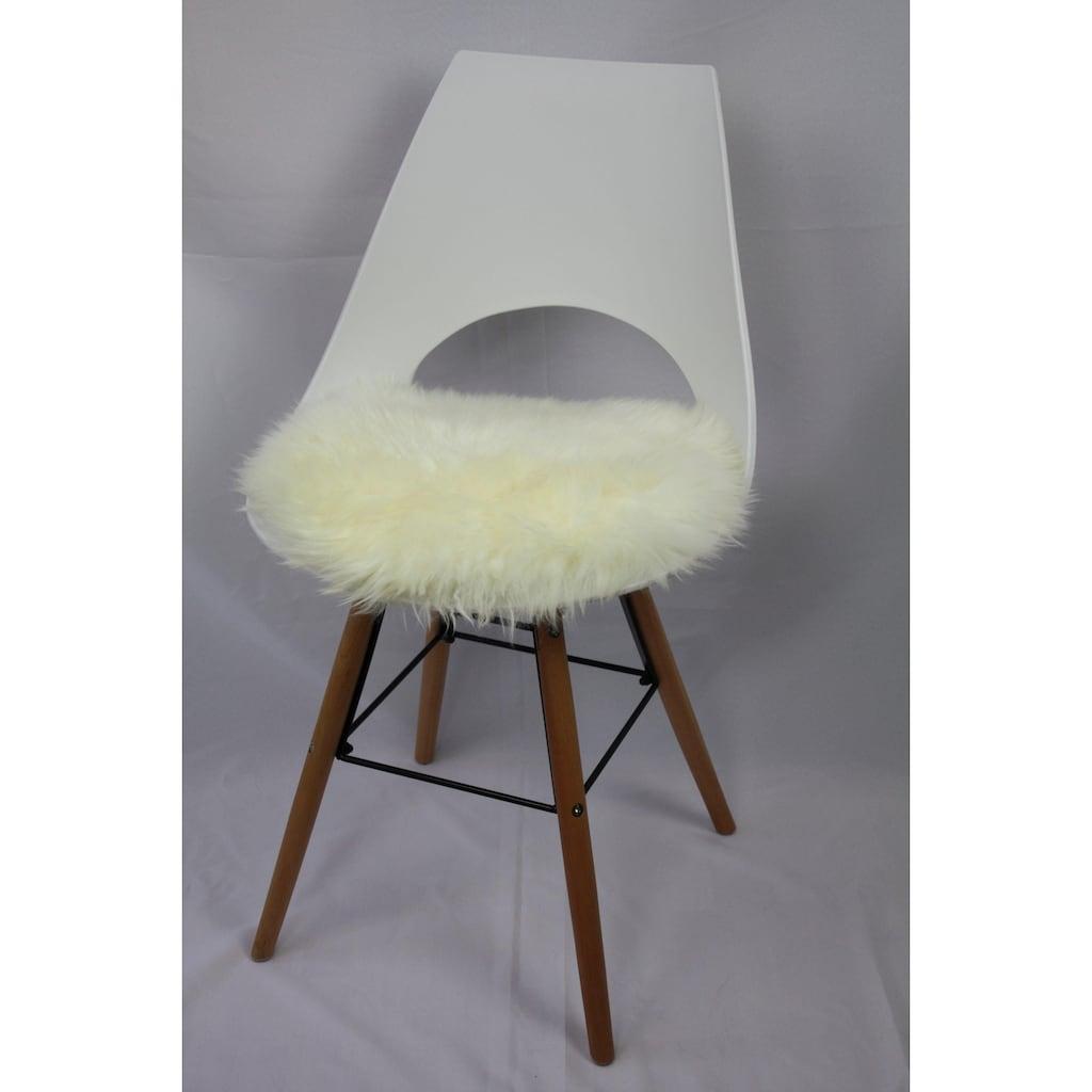 Heitmann Felle Stuhlkissen »Lamm, rund«, Sitzauflage, rund, Ø 45 cm, echtes Lammfell, waschbar
