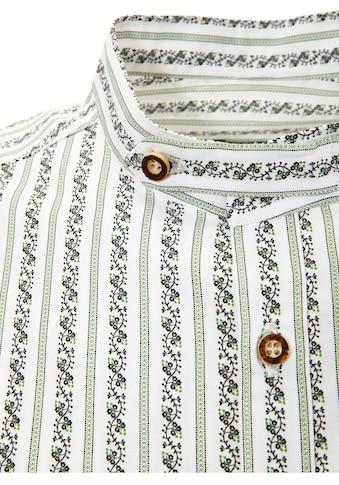 OS - Trachten Trachtenhemd mit Stehkragen kaufen