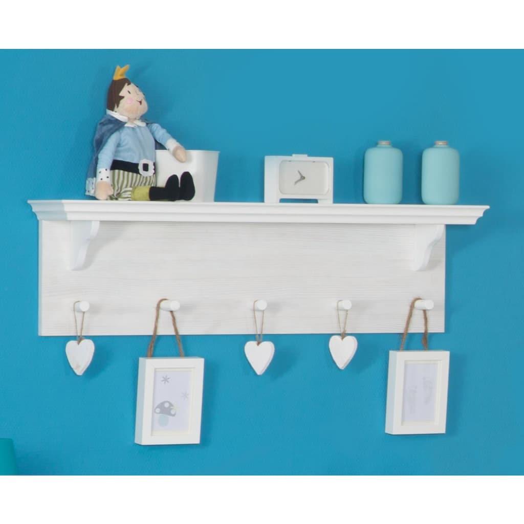 roba® Wandregal »Sarah«, mit Garderobenhaken