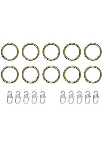 Gardinenring indeko, passend für Gardinenstangen (Set, mit Faltenlegehaken) kaufen