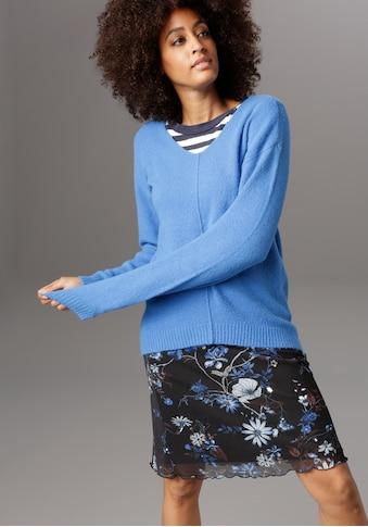 Aniston SELECTED Meshrock, im modischen Blumendruck kaufen