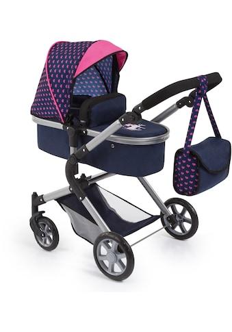 Bayer Kombi-Puppenwagen »City Neo, Blau/Pink« kaufen