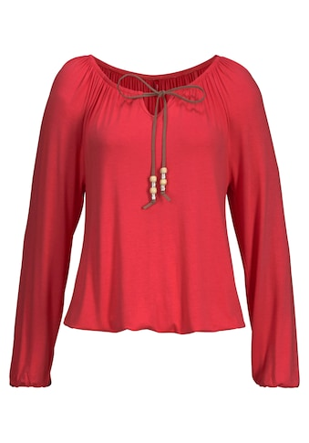 s.Oliver Beachwear Strandshirt, mit Bindeband am Ausschnitt kaufen