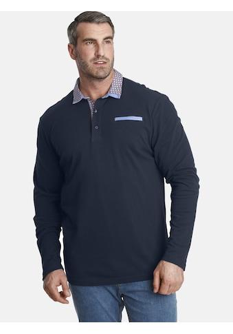 Charles Colby Langarm-Poloshirt »EARL CHAD«, mit doppeltem Kragen kaufen