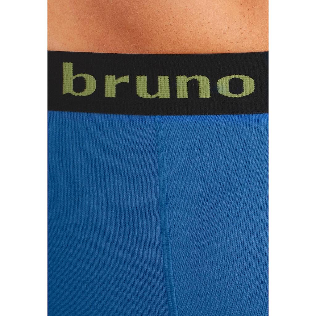 Bruno Banani Langer Boxer, mit schwarzem Logobund
