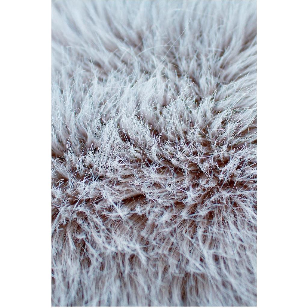 Sehrazat Fellteppich »Muslera«, fellförmig, 65 mm Höhe, Kunstfell, waschbar, Wohnzimmer