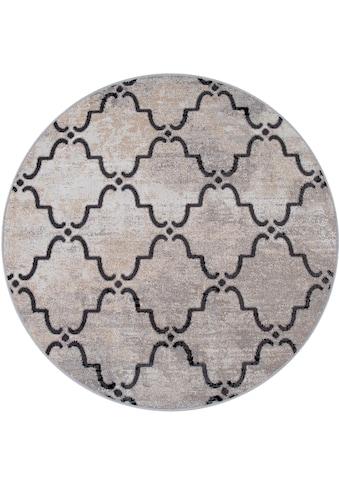 Paco Home Teppich »Artigo 411«, rund, 4 mm Höhe, Flachgewebe, In- und Outdoor geeignet, Wohnzimmer kaufen