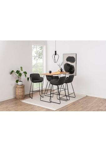 andas Barhocker »Lene«, aus einem schönen Webstoff Bezug, mit einem Metallgestell, Sitzhöhe 76 cm kaufen