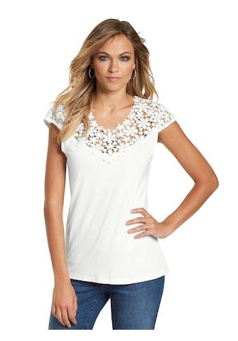 création L Shirt mit hochwertiger Blütenspitze kaufen