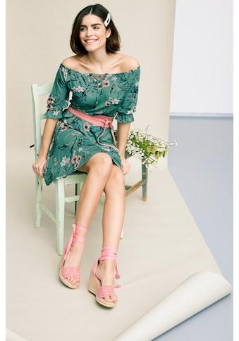 Tamaris Off-Shoulder-Kleid, mit Blumenprint - NEUE KOLLEKTION kaufen