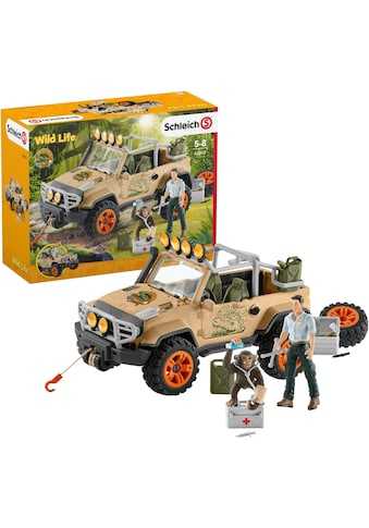 Schleich® Spielzeug-Auto »Wild Life, Geländewagen mit Seilwinde (42410)« kaufen