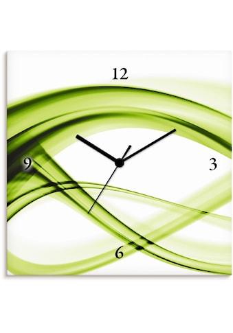 Artland Wanduhr »Abstrakte Komposition (grün)« kaufen