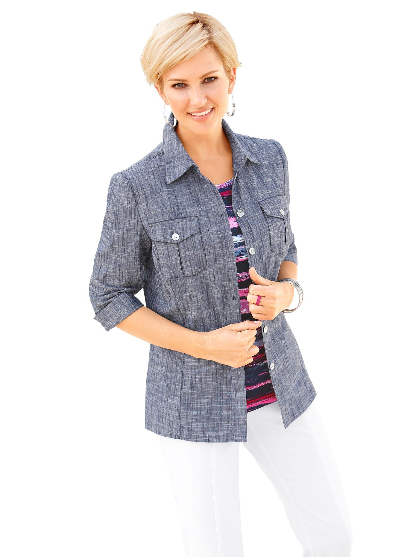 Image of Casual Looks Blusenblazer mit Seitenschlitze für viel Bewegungsfreiheit