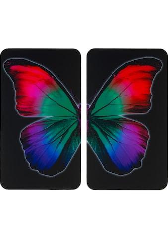"""WENKO Herd - Abdeckplatte """"Universal Butterfly by Night"""", Glas Kunststoff, (Set) kaufen"""
