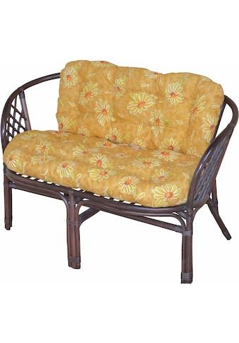 Home affaire Sitzbank, aus handgeflochtenem Rattan, mit Kissen kaufen