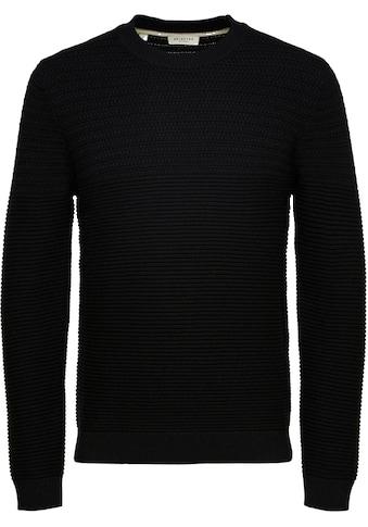 SELECTED HOMME Rundhalspullover »CORNNRAD STRUCTURE CREW NECK« kaufen