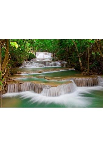 Fototapete »Deep Forest Waterfall«, Home affaire kaufen
