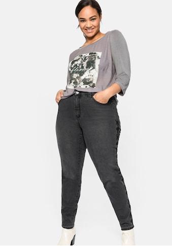 Sheego Stretch-Jeans, mit Stickereien seitlich am Bein kaufen