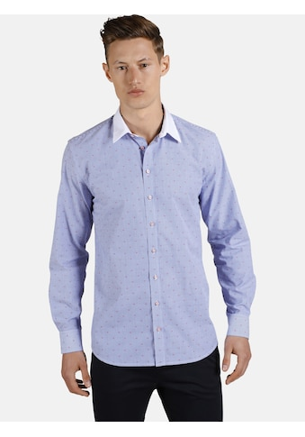 SHIRTMASTER Langarmhemd »whitecollarguy«, mit eingewebtem Muster kaufen