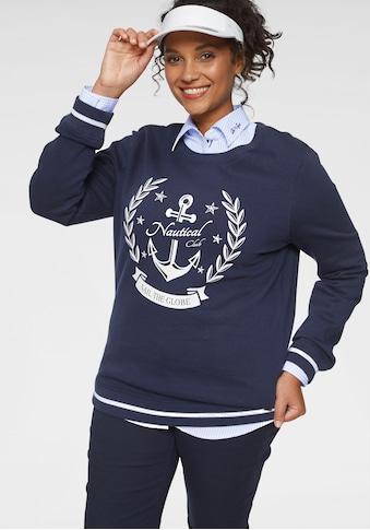 TOM TAILOR Polo Team Sweatshirt, mit gestreiften Rippbündchen an Saum und Ärmelsaum kaufen