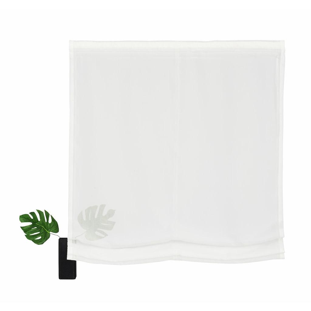 my home Selection Raffrollo »Malin«, mit Klettband, Farbe: Wollweiss